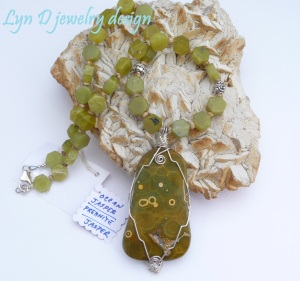 sterling wrapped ocean jasper with prehnite and jasper 4
